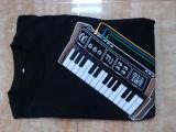 T-shirt électronique de lueur de chemise de guitare de roche