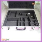 O estilo cor-de-rosa do punho da superfície do ABS que trava o alumínio carreg a caixa (SATC017)