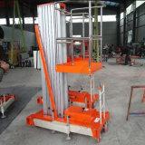 Lucht Werkend Opheffend Platform Één Platform van de Lift van de Legering van het Aluminium van de Mast het Hydraulische