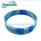 Multi Farbe gemischtes Strudel-Silikon-Armband