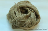 2015 новое Acrylic 100% Woman Knitted Solid Winter Long Scarf с Gold Lurex (HQW16002)