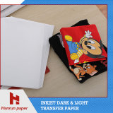 Бумага передачи тепла качества пленки PU Inkjet размера A4 самая лучшая для тенниски и хлопко-бумажная ткани хлопка