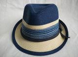 혼합 색깔에 의하여 꿰매어지는 끈목 줄무늬 악대 중절모 밀짚 모자