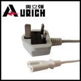 O cabo de potência BRITÂNICO com BS certificou o plugue montado, ligações da entrada do adaptador da potência