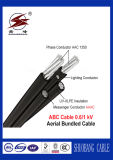 Bajo cable aéreo de arriba aislado PVC del paquete de la tensión