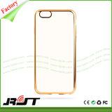 Cubierta protectora ultra fina de electrochapado lujosa del teléfono celular del capítulo del metal para el caso suave de iPhone6/6s TPU (RJT-0241)