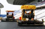 Machine à paver de béton d'asphalte de construction de routes