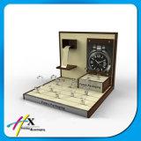 형식 가죽 & 나무 시계 표시판 소형 손목 시계 전시 쟁반