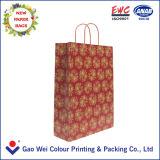 Sacs en papier faits sur commande réutilisés de Papier d'emballage avec les traitements de papier