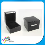 Rectángulo de madera con la caja de presentación de empaquetado de la sola joyería del reloj del estilo de la tapa