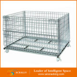 Falte und Stackable Storage Cage/Galvanized Wire Mesh Container