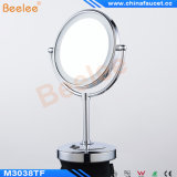 Hotel Bathroom를 위한 탁상용 Stand Makeup Mirror Rotatable LED Mirror