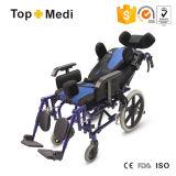 뇌성 마비 아이들을%s Topmedi 기대는 높은 뒤 휠체어