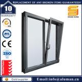 Guichet en verre en aluminium de tissu pour rideaux d'enduit de poudre d'économie