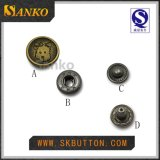 Couleur d'or de modèle neuf d'offre pour le double bouton instantané avec le logo