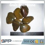 Piedra del río del guijarro de la vena del grano para la decoración casera, piscina, jardín, paisaje