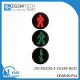 Rote grüne Fußgängerverkehrszeichen-Licht-Baugruppe