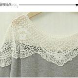 plus Size New Design 숙녀의 Batwing 간결 소매 레이스 셔츠
