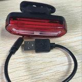 Ipx6 luz blanca azul máxima recargable de la cola de la bici del cambio LED del color del USB 600mAh 150lm