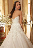 Mori Lee sweetheart satin dentelle organza Morilee robe de mariée (Dream-100068)