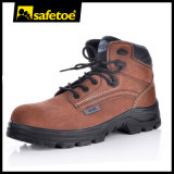 Nuevos zapatos de cuero de Nubuck de la seguridad libre del metal del diseño con el casquillo compuesto M-8356 Brown de la punta