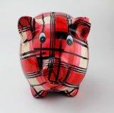 La grande Banca Piggy di ceramica dipinta a mano con il disegno del maiale