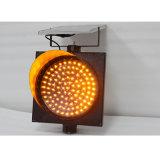 Предупредительный световой сигнал безопасности дороги 300mm желтый проблескивая солнечный