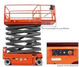 A estrutura compata completamente elétrica Scissor a plataforma de trabalho aéreo