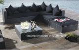 Sofá de canto comercial do Rattan do projeto novo de Foshan Using ao ar livre ou o jardim (YT255)