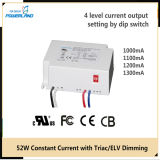 52W 1.0 / 1.1 / 1.2 / 1.3A Constant Triac Current / Elv Dimmable LED Power Supply