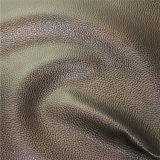 Кожа мебели PVC материала драпирования типа мира верхнего качества синтетическая