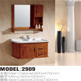 Mirror Cabinetの高品質Solid Wood Floor Standing Bathroom Vanity