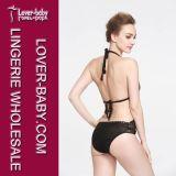 Dame-handgemachte Häkelarbeit-Bikini-Badeanzug-Badebekleidung (L32572)
