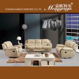 La alta calidad del cuero genuino seccional reclinable Sofá (738 #)