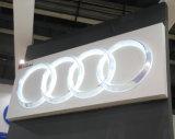 Kundenspezifisches Harz-Chrom-Auto beleuchtet LED-Zeichen