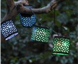 Lumière solaire de corde de lanterne en métal de Narval