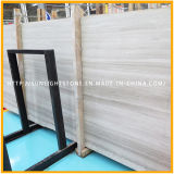 Chinesisches Weiß-hölzerner Korn-Marmor-Stein-Bodenbelag für Küche und Badezimmer