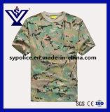 T-shirt à séchage rapide militaire occasionnel de collet d'équipage de Camo de Mens (SYSG-255)