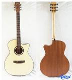 Guitarra acústica Sg01SMC-40 da madeira compensada de Cutway da fábrica de China