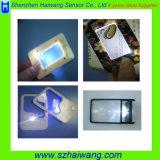Freies Beispielvergrößerungsglas-Glaskarte mit LED-Licht für die ältere Anzeige