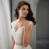 V-Stutzen Schutzkappen-Hülsen-Spitze-Kristall schnallt Hochzeits-Kleid um (SA004)