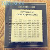 Arandela de cobre de cobre del kit/surtido 30size 568PCS de la junta del anillo de cierre