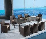Jardim ao ar livre do frame de alumínio do PE-Rattan que janta o jogo com cadeira & a tabela por 8-10persons