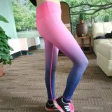 Gradient Color Yoga Wear의 여자 Yoga Compression Tights