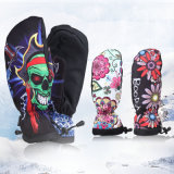 Finger pieno Ski Glove con Artwork Print (10212)