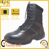 2016 Style quente Highquality Black Leather Military Combat Boot com Rubber Sole