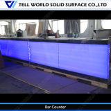 Contador comercial de la barra de la bebida de la música del diseño LED de 150 clases para la venta, diseño moderno de las encimeras de la barra de la bebida