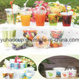 Straw (YHP-167)를 가진 10oz 12oz 14oz 16oz 20oz 24oz Disposable Clear Plastic Cold Cup