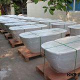 Künstliches Steinharz-feste kleine freistehende Oberflächenbadewanne