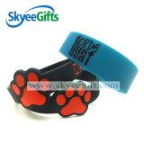 Wristband bianco del silicone del materiale di riempimento di colore